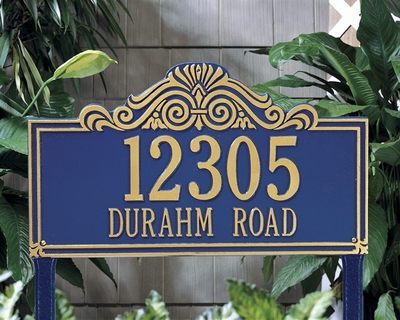 Villa Nova Estate Lawn Address Sign - Two Line
