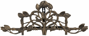 Whitehall Vine and Trellis Hose Holder - Oil Rub Bronze