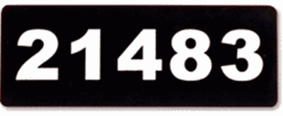 Vinyl Address Plaque With Numbers Only