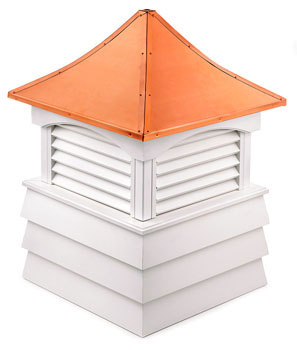 "Sherwood Vinyl Cupola - 30"" sq. x 46"" high"