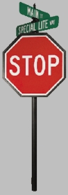 Vista Series #4 Directional Stop Sign