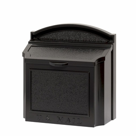 Whitehall Wall Mailbox with Removable Locking Insert - Black