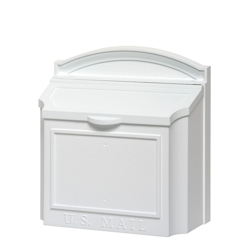 locking residential mailboxes. Whitehall Wall Mailbox With Removable Locking Insert - White Locking Residential Mailboxes