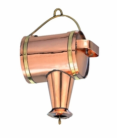 "Watering Can Leader - Polished Copper - 11""L X 7""W X 4.5""D"
