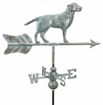 "Labrador Retriever Weathervane - 13""L X 9""H X Arrow: 21"" Long"