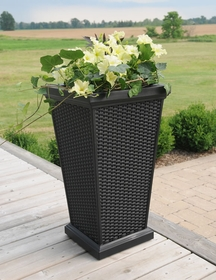 Wellington Tall Planter - Black