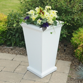 Wellington Tall Planter - White