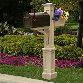 Westbrook Plus Mailbox Post Clay