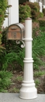Westchester Brass Mailbox & Capistrano Mailbox Post with Locking Insert Option