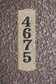 Wexford Vertical Solid Granite Address Plaque With Engraved Text - Sand Polished