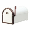 White Coronado Mailbox with Antique Copper Accents