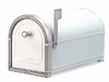 White Coronado Mailbox with Antique Nickel Accents