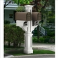Rockport Double Mailbox Post White