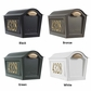 Whitehall Deluxe Chalet Mailbox Package w/Newspaper Box - Black
