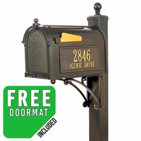 Whitehall Deluxe Bronze Mailbox Package