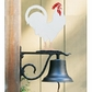 Whitehall Large Bell with Rooster Ornament (Life-Like MultiColor)