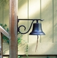 Whitehall Large Country Bell Ornament Black