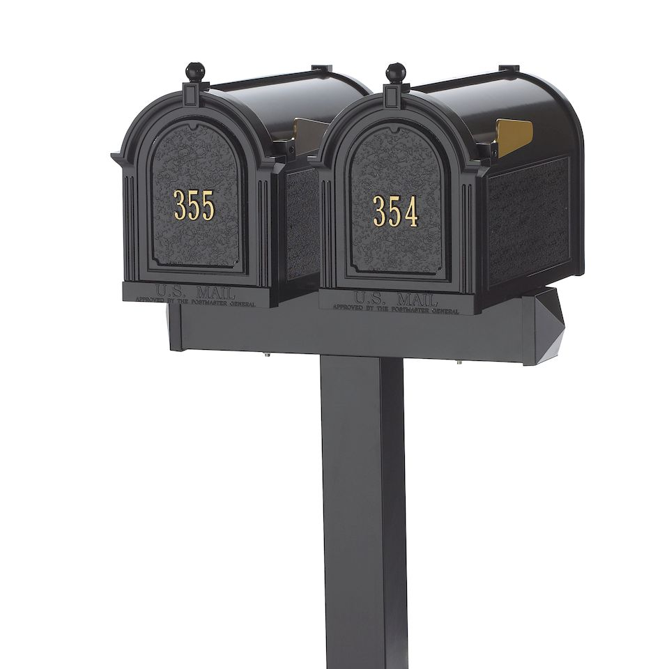 unique residential mailboxes. Whitehall Side Mount Double Mailbox Package Unique Residential Mailboxes L