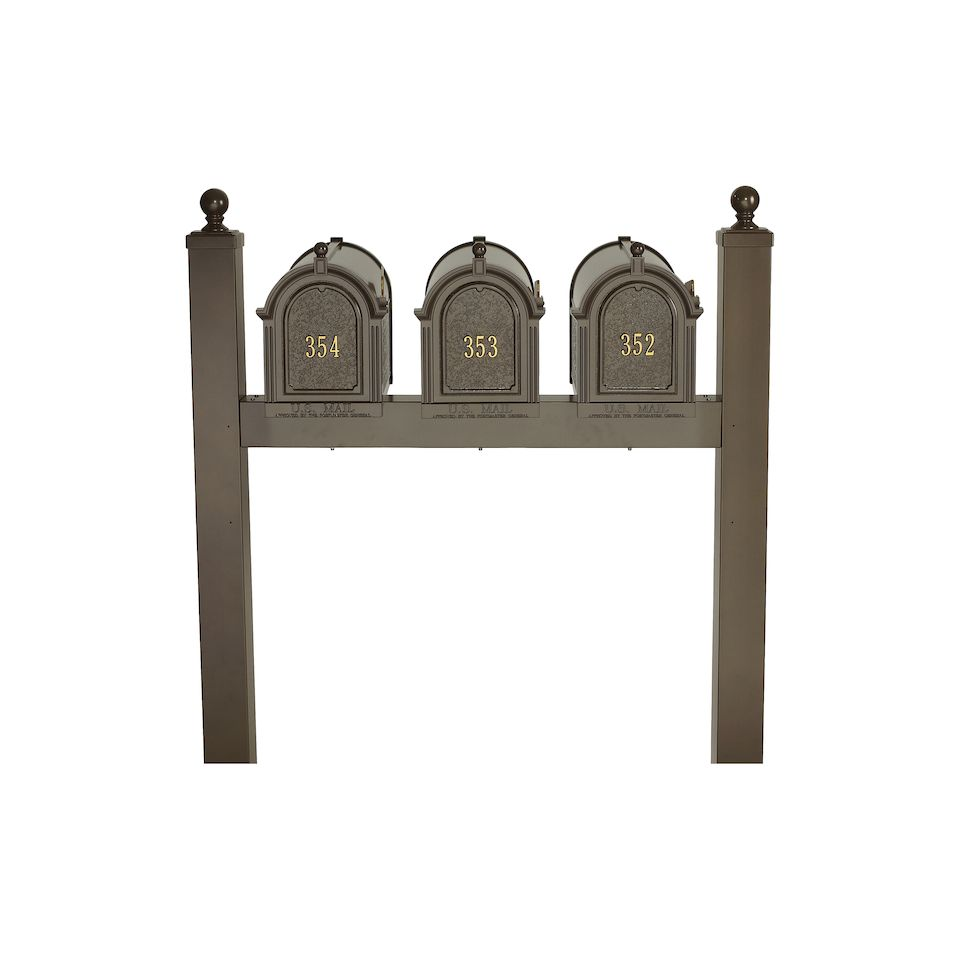 residential mailboxes. Whitehall Side Mount Triple Mailbox Package Residential Mailboxes