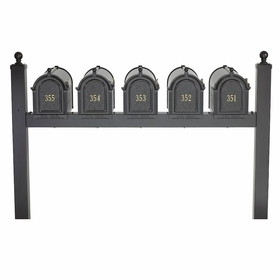 Whitehall Multi Mailbox Quint Package - Black
