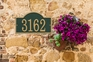 Whitehall Products Fast & Easy Arch House Numbers Plaque - Choose Color