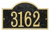Whitehall Products Fast & Easy Arch House Numbers Plaque - Black / Gold Lettering