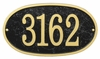 Whitehall Products Fast & Easy Oval House Numbers Plaque - Black / Gold Lettering