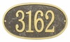 Whitehall Products Fast & Easy Oval House Numbers Plaque - Bronze / Gold Lettering