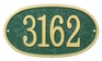 Whitehall Products Fast & Easy Oval House Numbers Plaque - Choose Color