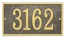 Whitehall Products Fast & Easy Rectangle House Numbers Plaque - Black / Gold Lettering
