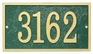 Whitehall Products Fast & Easy Rectangle House Numbers Plaque - Choose Color