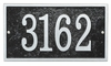 Whitehall Products Fast & Easy Rectangle House Numbers Plaque - Black / Silver Lettering