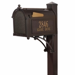 Mailbox and Post Combo