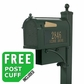 Whitehall Westwood Curbside Mailbox Package and Newspaper Holder in Green (Optional Door Plaque)
