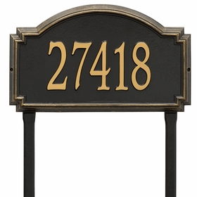 Williamsburg One Line Estate Lawn Address Sign
