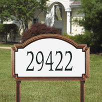 Williamsburg - Estate Reflective Lawn Address Sign - One Line