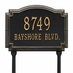 Williamsburg - Two Line Standard Lawn Address Sign