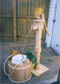 "WISHING WELLS - Pump and Washtub (52"" H)"