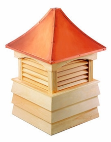 "Wood Sherwood Cupola 30"" Sq X 46"" H"