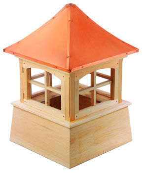 "Wood Windsor Cupola 36"" Sq X 52"" H"
