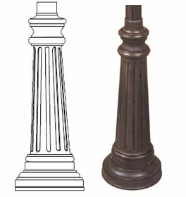 WRB6 Sign Pole Decorative Bases - Town Square Series - 3 inch Slip Over