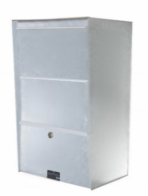 X-Large Wall-Mount Stainless Steel Drop Box/Letter Locker