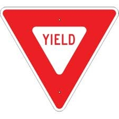 """Yield Sign Reflective Faceplate 30"""""""