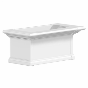 Yorkshire Window Flower Box, White - 2Ft Wide