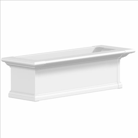 Yorkshire Window Flower Box, White - 3Ft Wide