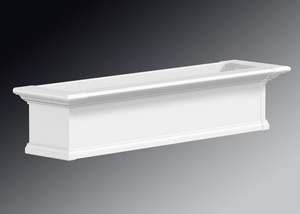 Yorkshire Window Flower Box, White - 4Ft Wide