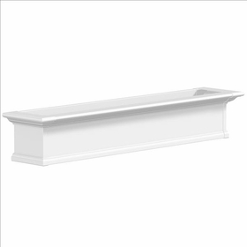 Yorkshire Window Flower Box, White - 5Ft Wide