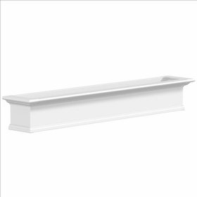 Yorkshire Window Flower Box, White - 6Ft Wide