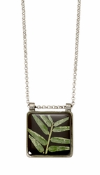 "Bamboo 16"" Adj. Medium Square Necklace"