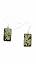 Bamboo Small Rectangle Earrings